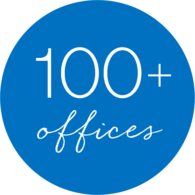 100+ offices